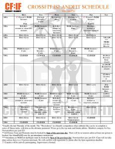 CFIF Schedule July 2013