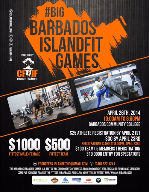 Barbados IslandFit Games 2014. April 26.